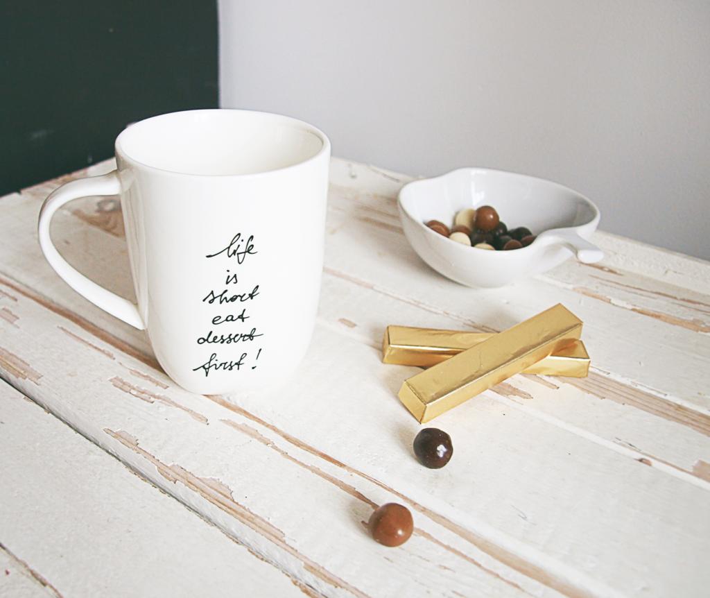Dovana - blatas puodelis su įkvepiančiu užrašu