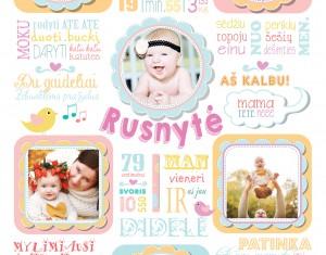"""Pirmojo gimtadienio idėja – vaiko pasiekimų metraštis """"Rusnytė"""""""