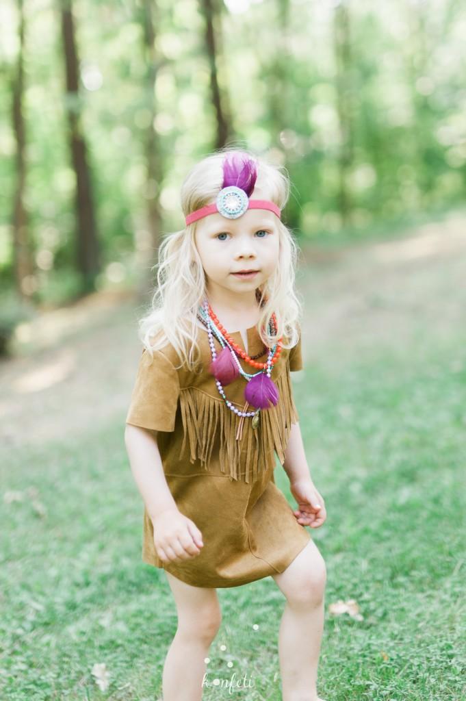Indėniškas mergaičių gimtadienis - rūbai ir aksesuarai