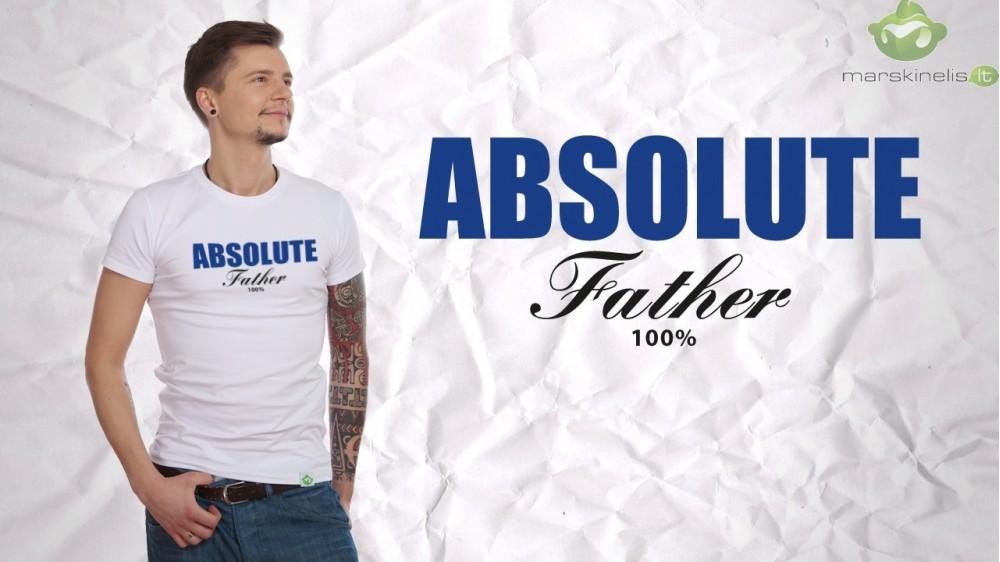 Marškinėliai su užrašu - dovana tėvo dienos proga