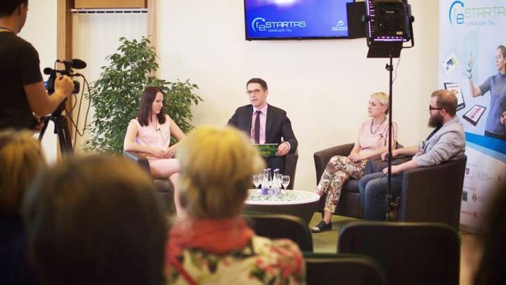 """""""Šventės idėja"""" portalo įkūrėja dalinosi verslo patirtimi """"ReStart'o"""" diskusijoje"""