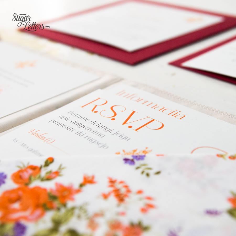 geletas vestuvių kvietimas