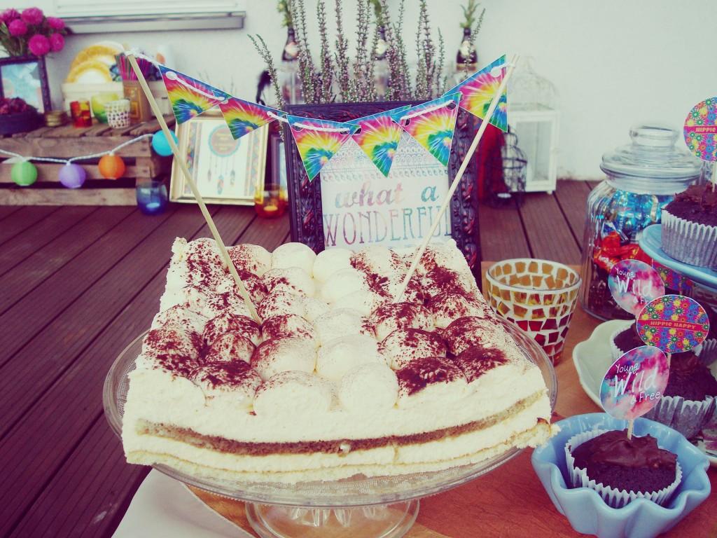 Tiramisu tortas, hipiška gimimo diena
