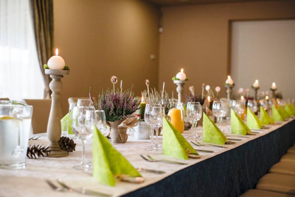 Viržiai - stalo dekoracija