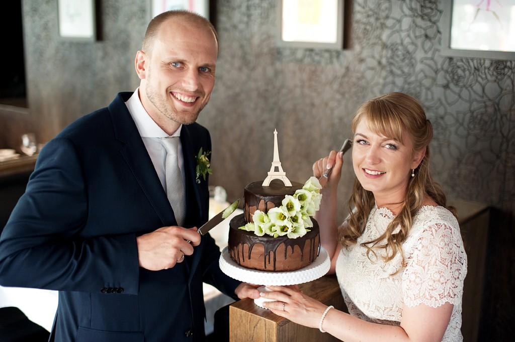 Vestuvinis šokoladinis tortas - Eifelio bokštas, Prancūzijos tema