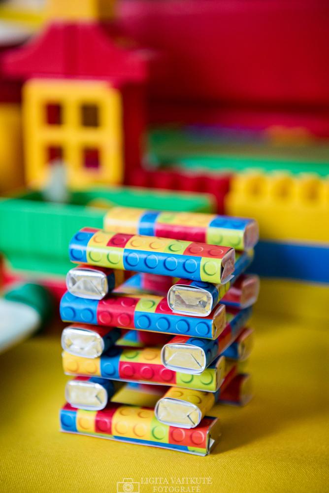Lego saldainukai su individualia spauda, etiketėmis