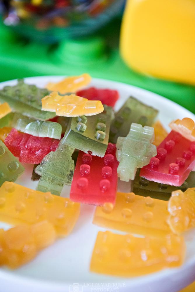 Guminukai Lego daryti su silikonine formele
