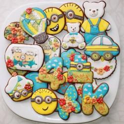 Pimpačkiukų teminis gimtadienis - sausainiai