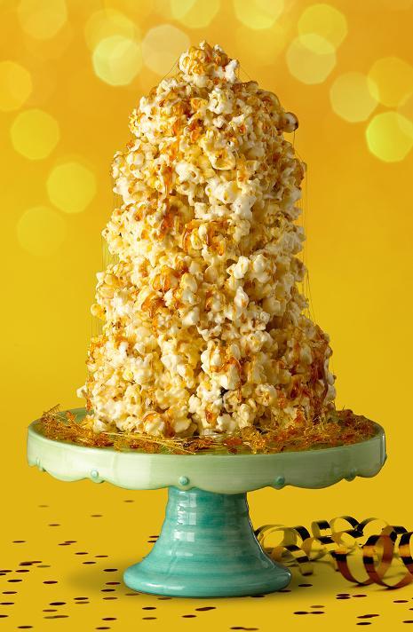 Netradicinis tortas iš popcornų, kukurūzų, pūstų ryžių