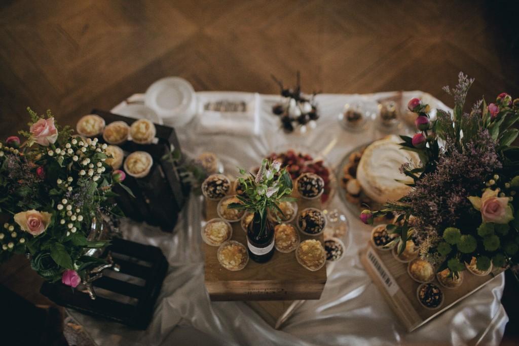 Rustic vestuvių dekoras