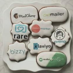 Sausainiai su logotipu, įmonėms