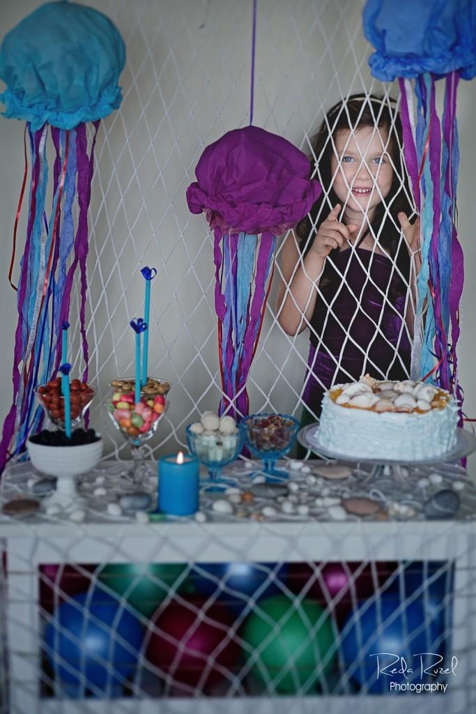 Undinėlė - teminis gimtadienis - dekoras, papuošimai