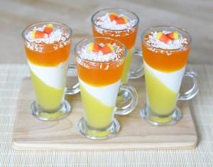 Helovyniškas želė desertas